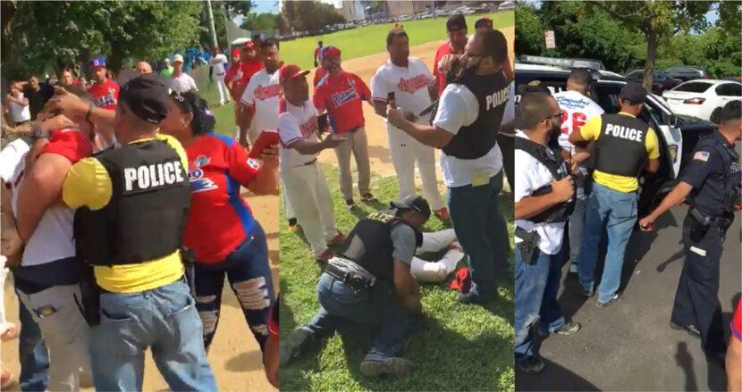 Dominicanos que jugaban softbol en estadio de Nueva Jersey detenidos y multados por policías