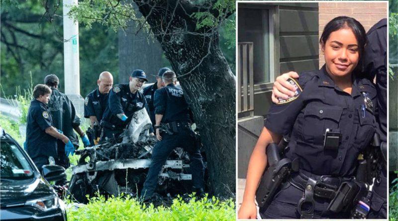 Policía de origen dominicano y acompañante mueren quemados en brutal accidente en autopista de Manhattan