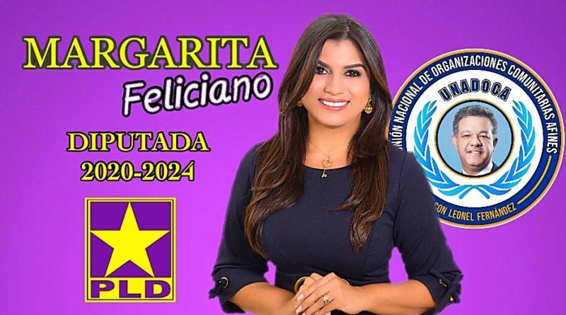 Margarita Feliciano, Dirigente del PLD y Presidente de la Unión Nacional de Organizaciones Comunitarias Afines (UNADOCA), inicia su precampaña digital y televisiva, anunciando parte de sus proyectos.