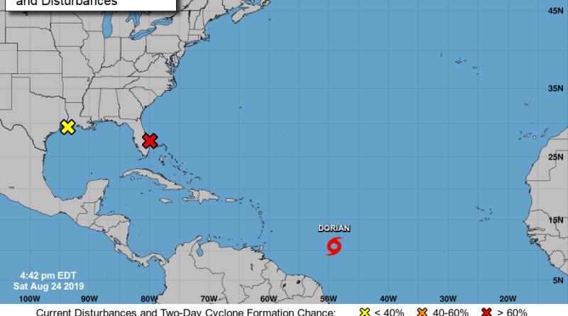 Dorian se fortalece mientras amenaza como huracán a R.Dominicana y P.Rico