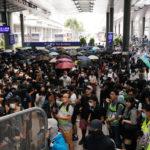 Suspenden el tren expreso al aeropuerto de Hong Kong ante la posible interrupción de sus actividades por manifestantes