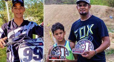 Manny Mora gana entre expertos; padre y su hijo llegan desde Suiza y vencen en motocross de Puerto Plata