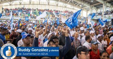 ATENCIÓN: Ruddy González se juramentó ayer en el PRM