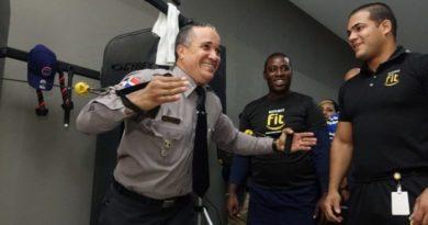 Policía pone a disposición de sus agentes un gimnasio para cuidar su salud