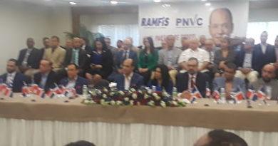 Ramfis Domínguez Trujillo celebra su nuevo partido: el PNVC