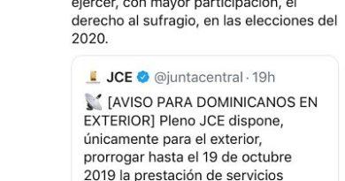 Ramfis Domínguez Trujillo saluda decisión de la JCE de extender el plazo de empadronamiento en el exterior