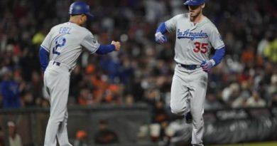 Cody Bellinger pega 47mo jonrón y guía la victoria de los Dodgers