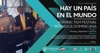 """Embajada de la República Dominicana en Sudáfrica en coordinación con la DGCINE, presentará el documental """"Hay un País en el Mundo"""""""