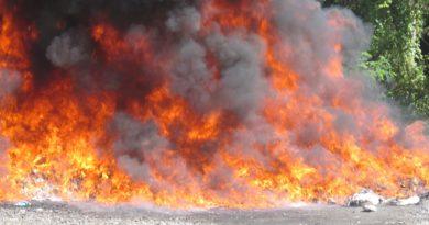 Procuraduría quema 220 kilogramos de drogas confiscadas en diferentes puntos del país