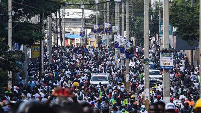 Católicos marchan en Haití; piden la renuncia del presidente Moise