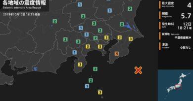 ALERTA: Un sismo de 5,7 se registra cerca de las costas de Japón mientras el tifón Hagibis azota las islas