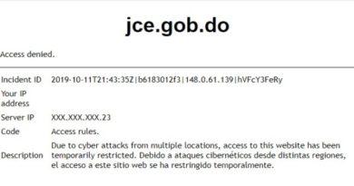 JCE restringe temporalmente acceso de su página web por ataque cibernético