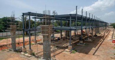 Sigue la construcción de la terminal de autobuses del Este