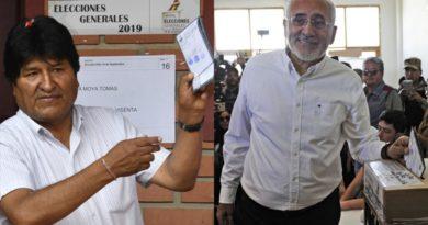 Resultados preliminares en Bolivia dan como vencedor a Evo Morales y descartan la segunda vuelta