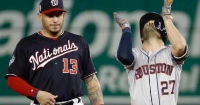 Altuve y Astros reaccionan ante Washington y ganan su primero de la Serie Mundial