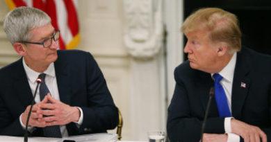 """""""¡Lo tienen todo: dinero tecnología visión y a Cook!"""": Trump pide al CEO de Apple crear una red 5G en EE.UU."""