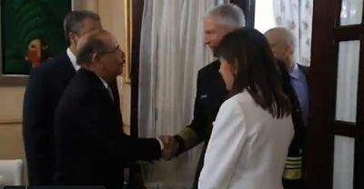 Presidente Medina recibe aljefe del Comando Sur de los EE.UU.