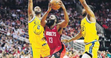 Harden anota 36 en triunfo Rockets
