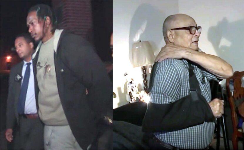 Afroamericano de siete pies acusado de asalto agravado por violenta patada a dominicano de 81 años