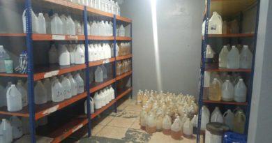 Policía Nacional y demás autoridades realizan gran operativo contra comercialización de bebidas alcohólicas adulteradas