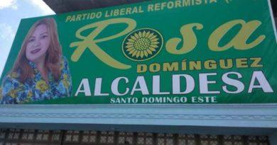 Destruyen propaganda política de la candidata a alcaldesa por SDE Rosa Domínguez