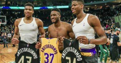 Giannis brilla y se impone a Davis, LeBron y los Lakers