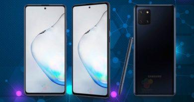 Samsung Galaxy Note 10 Lite está a punto de lanzarse y éstas son todas sus características
