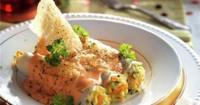 Canelones de verdura y pescado