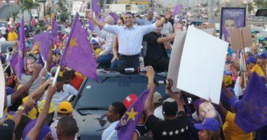Manifestación Del Candidato Peledeista Luis Alberto Concentro A Miles De Seguidores En Los Alrededores De Megacentro