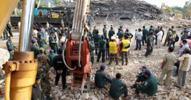 Al menos siete muertos en el derrumbe de un edifico en obras en Camboya