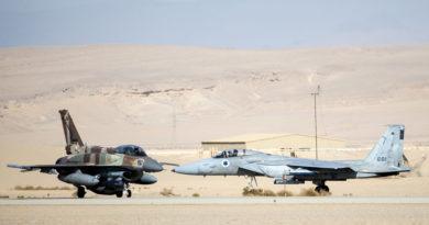 Inundaciones causan daños millonarios en aviones de combate israelíes en sus hangares