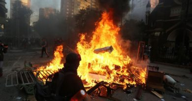 Miles de chilenos toman el centro de Santiago en la primera protesta del 2020