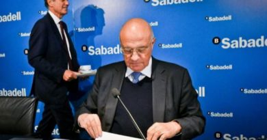 Sabadell se desploma en Bolsa un 14% tras incumplir expectativas financieras
