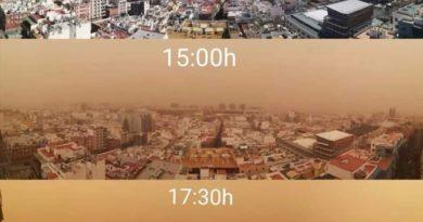 Cierran el espacio aéreo de Canarias por la masiva llegada de polvo africano