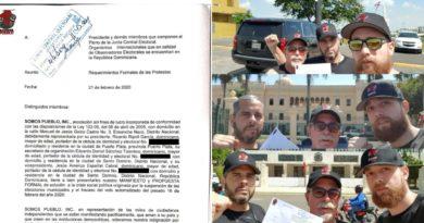 Somos Pueblo deposita en JCE, Senado y Palacio Nacional demandas de protestas frente a JCE