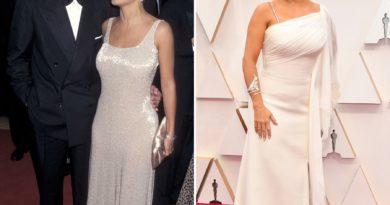 """Salma """"repite"""" look que llevó junto a Luis Miguel en los Oscar de 1997"""