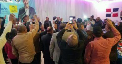 Coalición Democrática por la Regeneración Nacional USA juramenta miembros en apoyo de Abinader