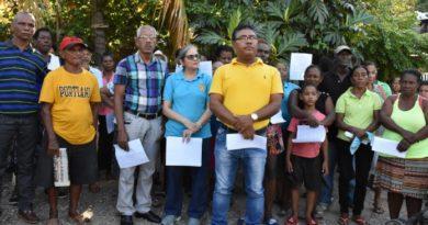 Comunitarios rechazan declaraciones del Gobierno sobre proyecto Domingo Savio