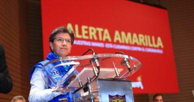 Declaran alerta amarilla en Bogotá para hacerle frente al coronavirus