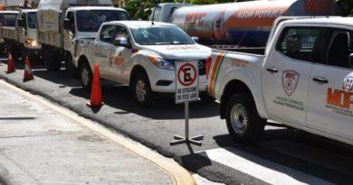 Obras Públicas desinfecta y acondiciona locales usará Gobierno para aislamiento