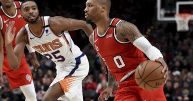 Blazers ganan ante los Suns y cortan racha de dos derrotas
