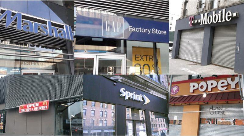 Grandes marcas y corporaciones con tiendas en el Alto Manhattan también sufren golpe del coronavirus