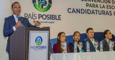 Partido País Posible anuncia donativo; pone al servicio del país su personal médico por COVID-10