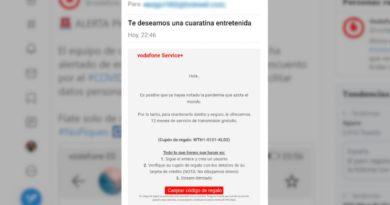 Vodafone alerta de una estafa con un código de cupón regalo inexistente