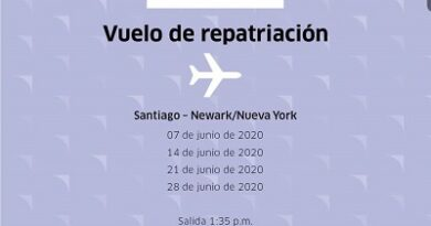 United programa 04 vuelos de repatriación desde Santiago de los Caballeros a Newark para el mes de junio