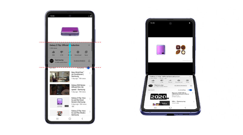 YouTube ahora tiene una nueva optimización para el Galaxy Z Flip