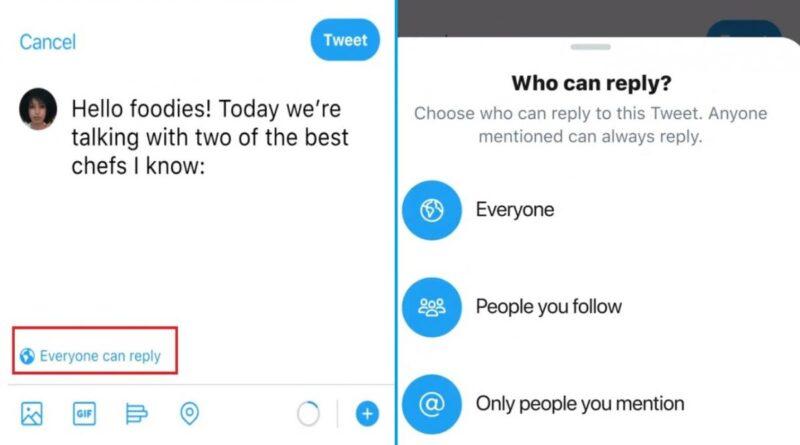 Twitter prueba un botón para limitar quién puede responderte