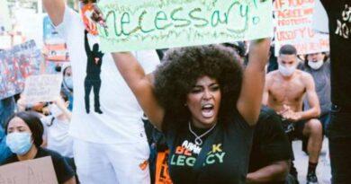 Amara La Negra se une a protesta contra el asesinato de George Floyd en Estados Unidos