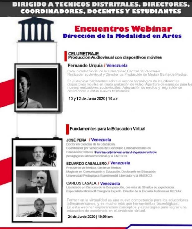 MINERD y la Escuela Audiovisual Mediax realizan webinars sobre Celumetraje y Fundamentos de la Educación Virtual