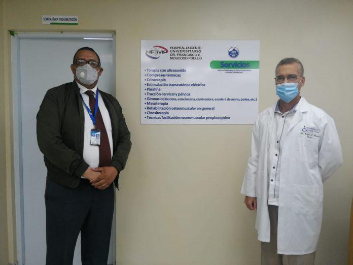 Hospital Moscoso Puello pone en funcionamiento Unidad de Terapia Física y Rehabilitación